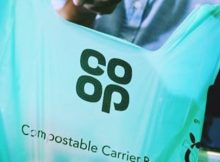 co-op single use plastic bags compostables
