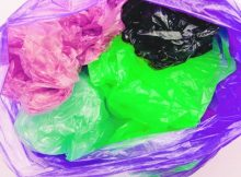 disposable plastic bags at supermarkets and shops